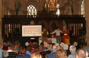 cabaret in Grote Kerk Naarden