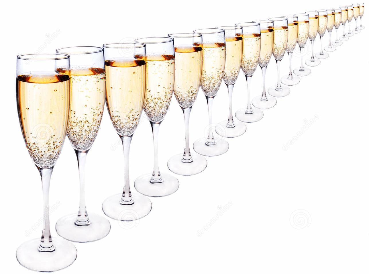champagneglazen vip show