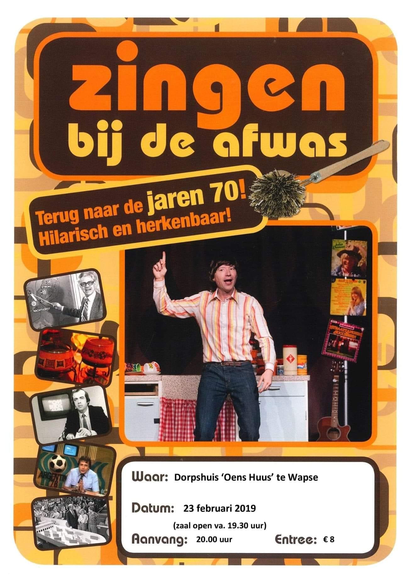 Poster Zingen bij de Afwas